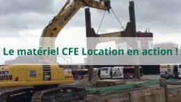 Le matériel CFE Location en action - Pelle sur chenilles KOMATSU PC290