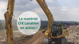 Le matériel CFE Location en action Pelle sur chenilles New Holland E215