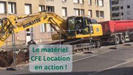 Le matériel CFE Location en action Pelle sur chenilles PC360-min